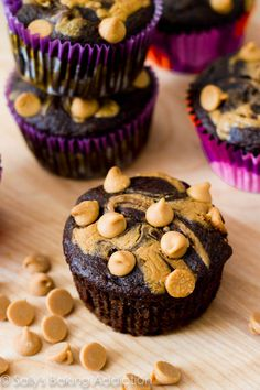Skinny Chocolate and Peanut Butter Cupcakes