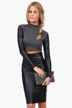 Verified Leather Crop Top