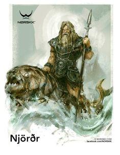Njordr deus dos mares das embarcações pai de Frey e Freya, deuses da beleza e doa abundancia eram os senhores dos deuses Vanir