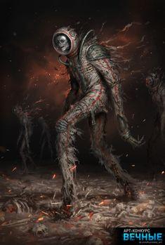 ArtStation - The Dead Planet, Denis Zhbankov Dark Fantasy Art, Cthulhu, Sci Fi Horror, Arte Horror, Art Sinistre, Arte Alien, Art Zine, Lovecraftian Horror, Horror Artwork