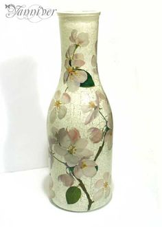 Decoupage Vase-Apple Blossom