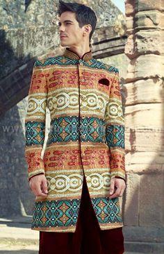 sherwani for men, sherwani uk, Asian clothes, purple sherwani, Indian sherwani… Indian Groom Wear, Indian Wedding Wear, Wedding Dress Men, Wedding Men, Wedding Suits, Kaftan Men, Sangeet Outfit, Indian Men Fashion, Mens Fashion
