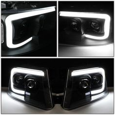 06-08 Mark LT Smoke Halo Projector Headlights w//Daytime LED For 04-08 F150//LOBO