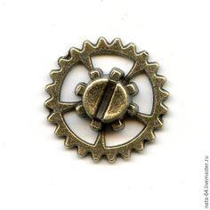Купить Шестеренка с винтиком - украшения ручной работы, авторские украшения, фурнитура для украшений, фурнитура для бижутерии