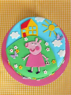 Just need to add George:) butter hearts sugar: Peppa Pig Birthday Cake