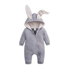 2019 Autumn Winter Newborn Baby Clothes Unisex Halloween Clothes Boys Rompers Kids Costume For Girl Infant Jumpsuit 3 9 12 Month Baby Outfits Newborn, Baby Boy Newborn, Baby Boy Outfits, Baby Boys, Newborn Clothes Unisex, Baby Bunnies, Cute Bunny, Baby Skunks, Grey Bunny