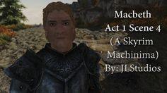 Macbeth Act 1 Scene 4 (Skyrim Machinima) #games #Skyrim #elderscrolls #BE3 #gaming #videogames #Concours #NGC