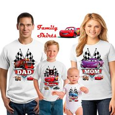 Disney Cars Birthday Shirt - Lightning McQueen and Mater Racer Shirt/lightning mcqueen shirt/disney cars shirt/birthday boy  Like the digital images from our store but little time to make it at home? Dont worry, just purchase the shirts from this listing and you are all set!!  This