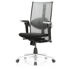HAG H09 Inspiration 9220 shown with Space Back, Shimmer Black seat & Matte Black base