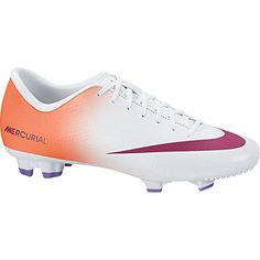 official photos 71798 f0ca3 Nike Womens Mercurial Victory IV FG Pink Green Soccer Cleats (6 B(M) US)