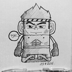 Muay Thai Character. #Character #muaythai #draw #art #thailand #cartoon #doodle #lowstudio1992