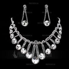 Jewelry - $29.99 - Gorgeous Alloy With Rhinestone Women's Jewelry Sets (011019388) http://amormoda.com/Gorgeous-Alloy-With-Rhinestone-Women-S-Jewelry-Sets-011019388-g19388