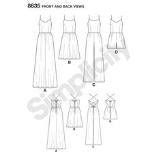 36-38 Simplicity Schnittmuster 8594 Kleider H5