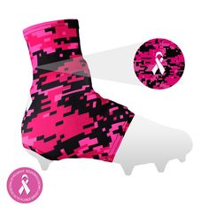 b68c2140c63 Digi Pink Spats   Cleat Covers Football Gear