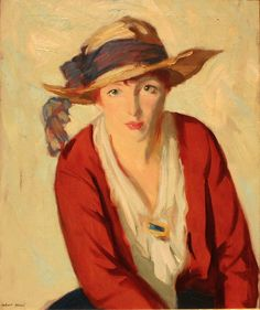 Robert Henri (American, 1865–1929) - The Beach Hat, 1914