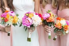 Around these parts, we believe a pop of color is good for the soul. And when that pop o' color happens to come in the form of a peony, dahlia and ranunculus packed bouquet? All the better. Jade + Matthew Take Pictures sent