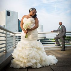 Fit-to-flare Plus Size #weddingdresses - Get pricing on a plus size wedding dress like this at http://www.dariuscordell.com