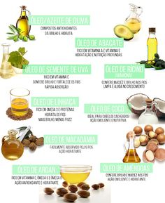 Umectação capilar com óleos vegetais