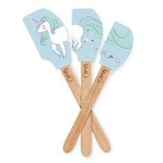 Unicorn lovers will flip out when they get our Enchanted Unicorn Spatula Set in their hot little hands! Separately they're stinking cute, but when this trio comes together you'll discover a whole new level of appreciation! Behold! A lovely unicorn, with a flowing mane, leaving a trail of fantastical cupcakes sprinkled with love from her rear!