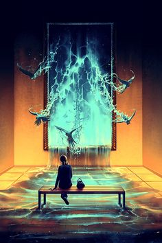 A painting as a door by Cyril Rolando, via Behance