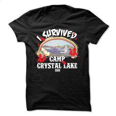 I Survived Camp Crystal Lake 1980 T-Shirt - custom tshirts #tee #shirt