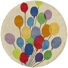 Lil Mo Whimsy Balloon Kids Rug