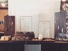 Wooden black jewelry display