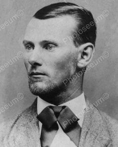Jesse James 1882 Close Up Portrait 8x10 Reprint Of Old Photo