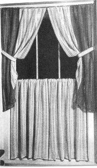 free crochet curtain patterns | Craftdrawer Crafts: Free Crochet Cottage Curtains Pattern