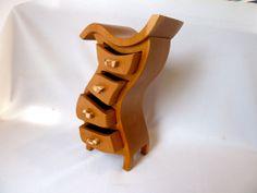 Earring Box Wooden Jewelry Box  Solid Cherry Hula35 W by PaulSzewc, $200.00
