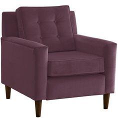 Wayfair Custom Upholstery Elena Arm Chair Color: Premier Purple