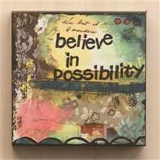 Believe in Possibility Wall Art -only $11.95 #uniquegiftsforwomen #homedecor