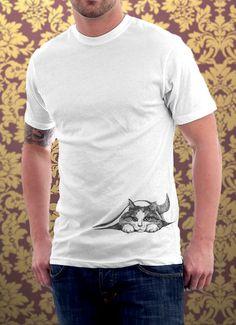 Cat tshirt Hiding Kitten Cat Kitty Cat Lover Cute Gift Pet