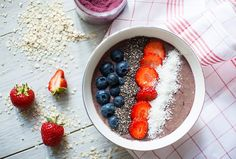 Superfood, Acai Bowl, Smoothies, Breakfast, Healthy Breakfast Meals, Berries, Meal, Simple, Food Food
