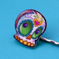 Previous Pinner: Sugar Skull Hair Clips  for Day of The Dead...this is kinda cute, actually!