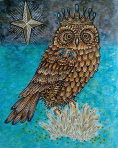 #яраскрашиваю #ханнакарлсонсонвлетнююночь #ханнакарлсон #сонвлетнююночь #hannakarlzonsommarnatt #hannakarlzon #sommarnatt #owl #сова