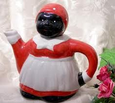 "Vintage Aunt Jemima Teapot ~~ Looks like she's singing the ""I'm A Little Teapot"" song! :)"