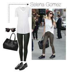 """""""Selena Gomez"""" by fromgermany ❤ liked on Polyvore featuring Rachel Zoe, 7 For All Mankind, T By Alexander Wang, Miista, Steve Madden and Retrò"""