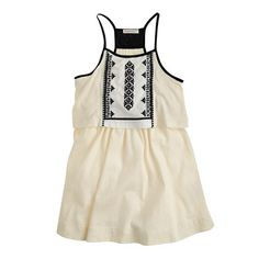 Girls' embroidered tiered sundress for Sadie to wear. Could pair with any of the shoes shown.  This is also available in grey which is nice as well.