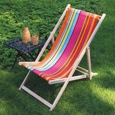 Strandstoel in bonbon plume