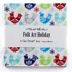 Folk Art Holiday by Gina Martin Charm Pack by SewPerfectlyVintage, $9.50