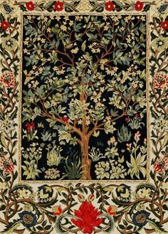tapestry wall hanging Tree of Life - Tree of Life wall hanging tapestry - William Morris wall tapestry - William Morris Decor - - This Museum Collection wall tapestry shows the Tree of Life, designed by William Morris March 1 - William Morris, Tapestry Weaving, Tapestry Wall Hanging, Tree Of Life Tapestry, Art Nouveau, Art Deco, Tapestry Design, Arts And Crafts Movement, Vintage Design