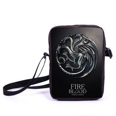 Tv Show Game of Thrones Prints Mini Messenger Bag Young Women Men Travel Bags Boys Girls School Bags Kids Book Bag For Snacks