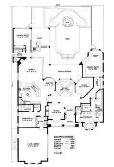 Mediterranean House Plan chp-16706 at COOLhouseplans.com