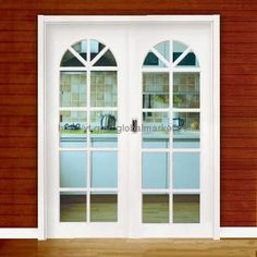 Classic UPVC Sliding Door with Arched Design