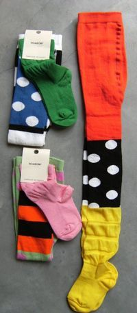 Cut up different pairs of tights to mix and match, sew back together.