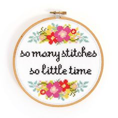 We can completely relate to this! Embroidery Hoop Art, Cross Stitch Embroidery, Fabric Flowers, Photo And Video, Diy, Inspiration, Instagram, Dots, Needlepoint
