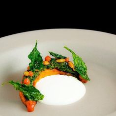 "176 Likes, 3 Comments - The Art of Plating (@theartofplating) on Instagram: ""Roasted red kuri squash, pumpkin miso, quince, kale gremolata, warm bone marrow and goat cheese…"""