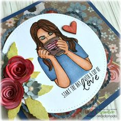 Cup of Love Stamp of the Week by Unity Stamp Co
