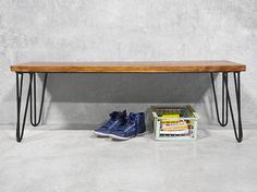 Prepare to see hairpin legs in a whole new light, with this retro industrial inspired bench that is sure to impress.